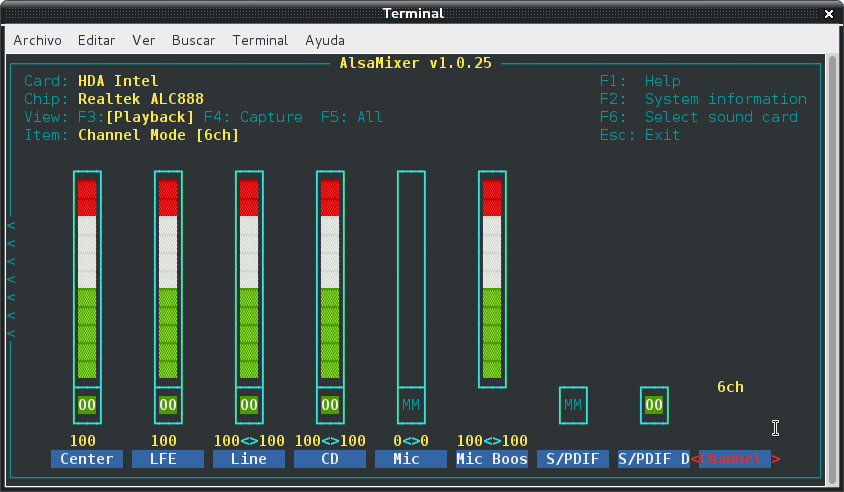 Resolver problemas de audio en debian Wheezy con Intel Corporation NM10/ICH7 (2/3)